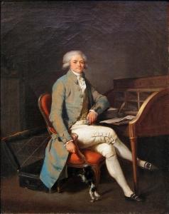 Robespierre peint avant le sommet de sa notoriété : image studieuse et bienveillante.