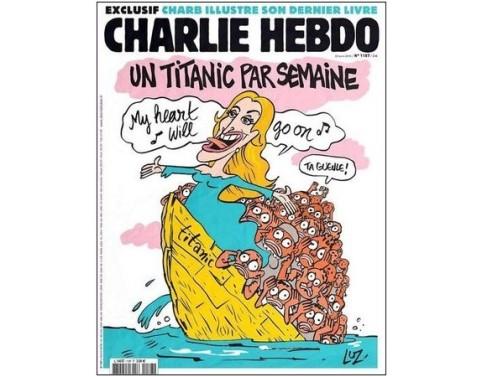 Le Titanic, jusqu'en une de Charlie Hebdo (avril 2015)
