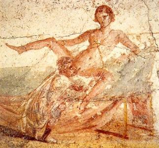 Satisfaire une femme est pour un Romain le comble de l'infamie, faisant du cunnilingus une pratique humiliante... mais malgré tout représentée dans l'art.
