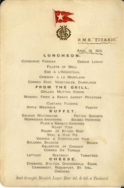 Des objets provenant du Titanic se vendent à des prix astronomiques, comme récemment un menu pour 80 000 euros.