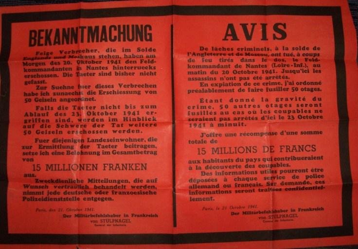 Malgré des dispositifs répressifs d'une violence inédite, jamais les occupants allemands n'ont pu stopper la Résistance, prouvant l'inutilité de toute politique ultra-sécuritaire.