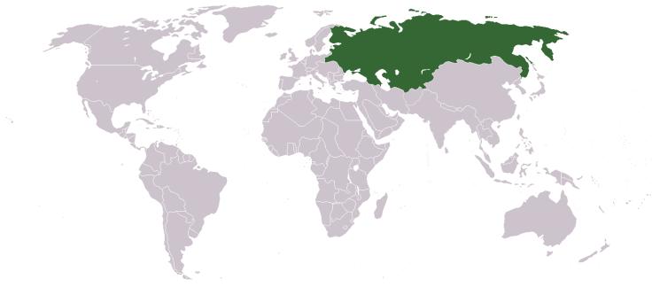 L'Empire russe en 1914, un géant dépassant largement les frontières de la Russie actuelle...