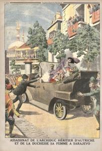 Prétexte commode, l'attentat de Sarajevo n'explique pas seul le déclenchement de la guerre. (Le Petit journal, 12 juillet 1914)