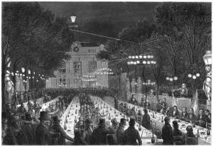 Le premier banquet de la campagne, à Paris, réunit 1 200 personnes en juillet 1847.