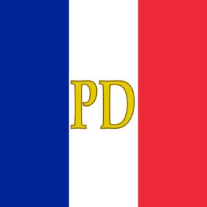 Si on a le droit aux marques personnelles des chefs d'Etat, les emblèmes des présidents sont aussi très sympas, comme ici le pavillon personnel de Paul Doumer.