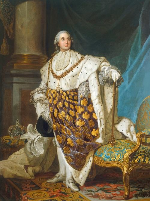 Louis XVI, peint ici en costume de sacre par Joseph-Siffrein Duplessis.