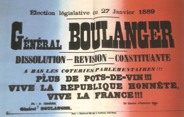 Le général Boulanger : premier « ni de gauche, ni de droite ? » – Veni Vidi  Sensi