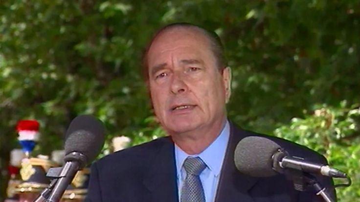 Jacques Chirac pendant son discours de 1995 sur la rafle du vélodrome d'hiver