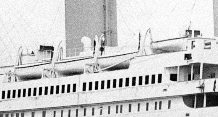 Canots avant tribord du Titanic