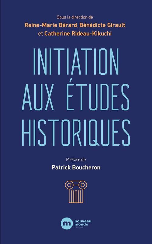Couverture du livre initiation études historiques