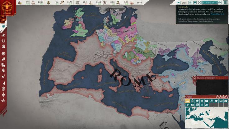 Capture d'écran de ma dernière partie d'Imperator Rome