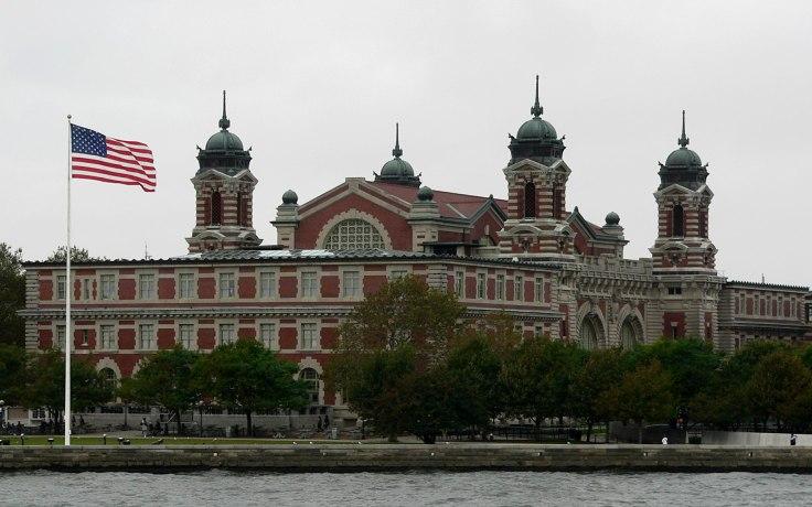 Vue du musée de l'immigration sur Ellis Island