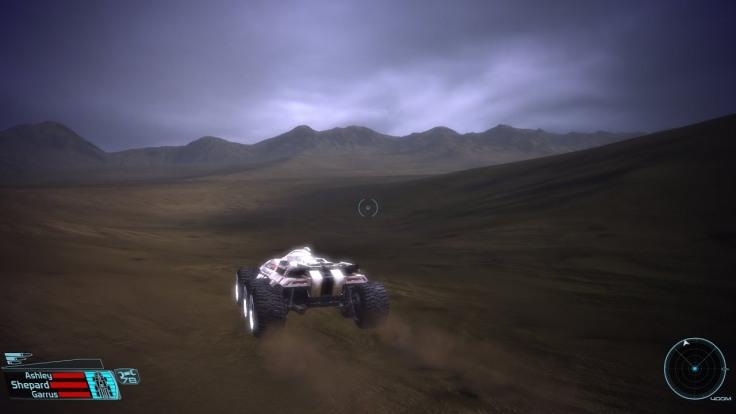 Vue d'une séquence en Mako dans Mass Effect 1