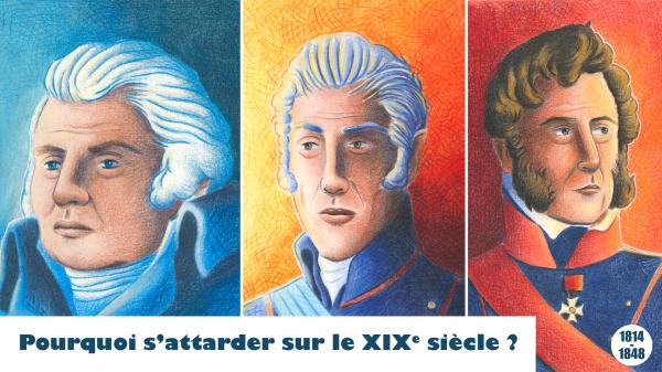 Vignette de l'épisode 0 représentant des portraits des trois rois de la période, par Loma.
